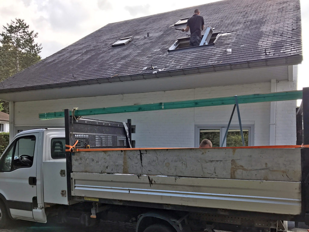 Toitures Jullien dakwerken joint debout dakopening