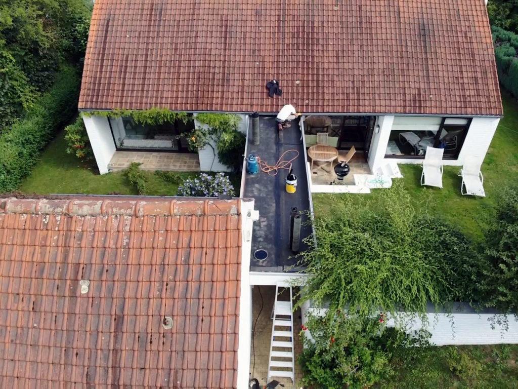 charpente - toit plat - timmerwerken - plat dak
